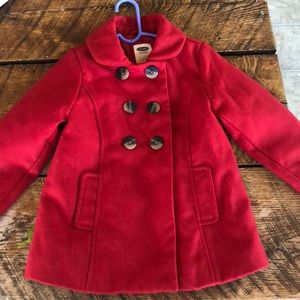 Toddler 5T red pea coat